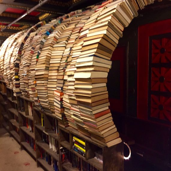The book tunnel.