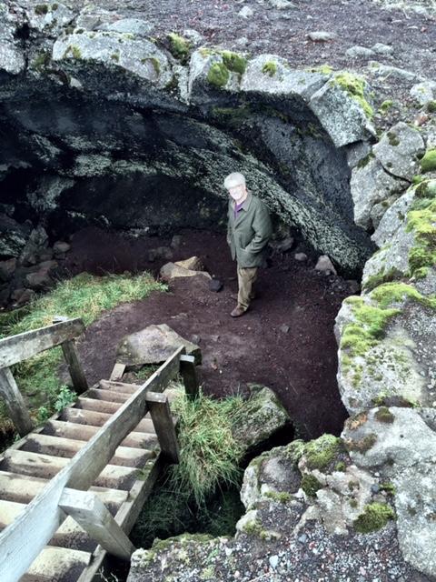 Glenn in a cave.