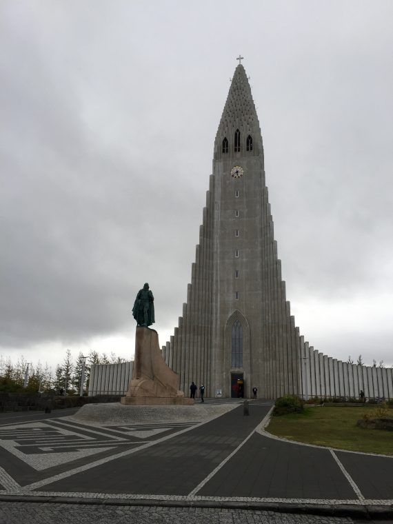 Hallgrimskirkja, the Church of Hallgrimur, is a national monument, dedicated to the most renowned religious poet of Iceland, Hallgrímur Pétursson.