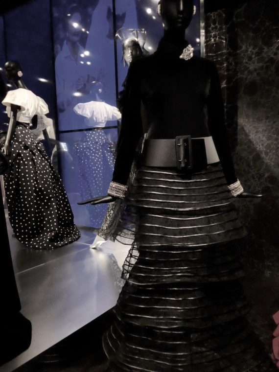 Black Armani Privé skirt, with her own top and belt.