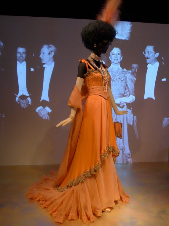 This is a gown she designed for a Proust themed ball.