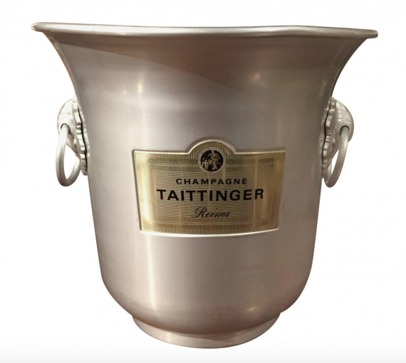 This shouts Get Ready For New Years. I love these french champagne buckets. They are all over 1stdibs and not the pricey. $85 is the going rate. I would use it for flowers or a plant when it wasn't full of bubbly.
