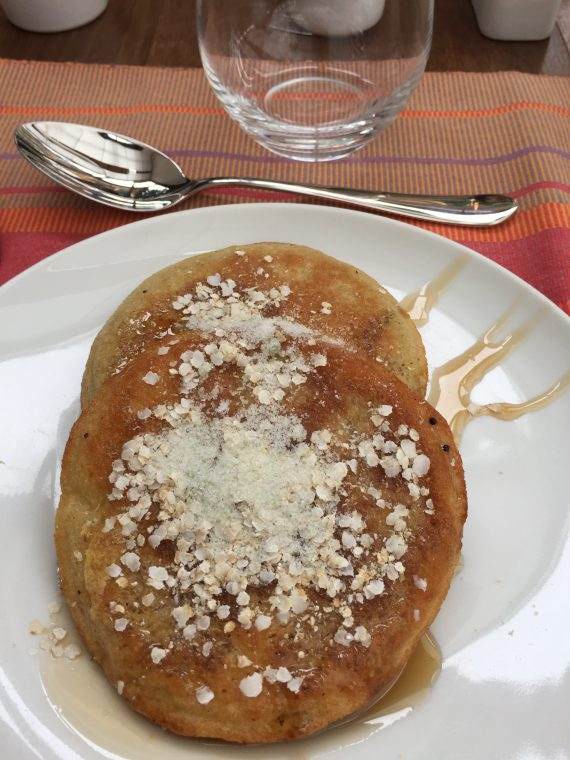 Quinoa pancakes. Quinoa has grown here forever. And it has been a big part of the Peruvian diet. Now that the rest of the world has caught on it is very good for the economy up here. They are exporting it like crazy.