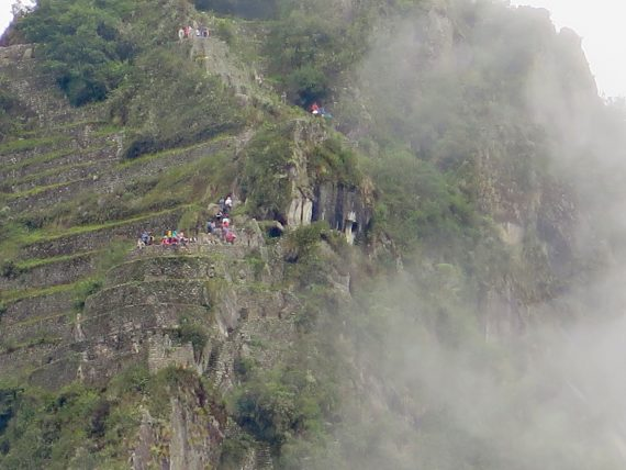 This is Huayna Picchu the highest mountain there that people actually climb. This trip was offered to us. We declined.