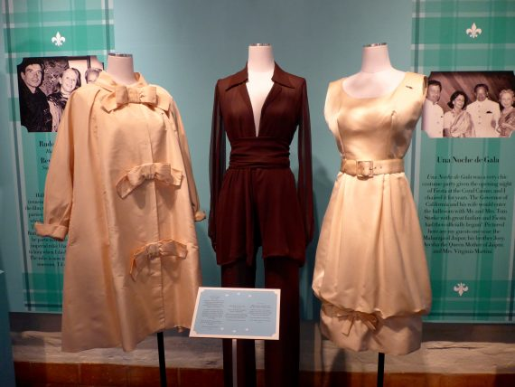 The brown Halston in the middle which belonged to Annette Kahlil was one of my favorites.