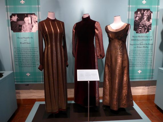 I don't remember who donated what. I do remember th middle dress Is Pierre Cardin.