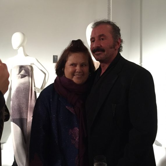 Ralph Rucci with Suzy Menkes the high priestess of fashion critics.