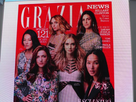Grazia which is one of my favorite magazines funded the show, which is odd considering it's sort of about the end of the magazine.