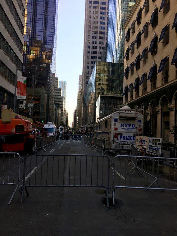 Still closed off. Major midtown street.