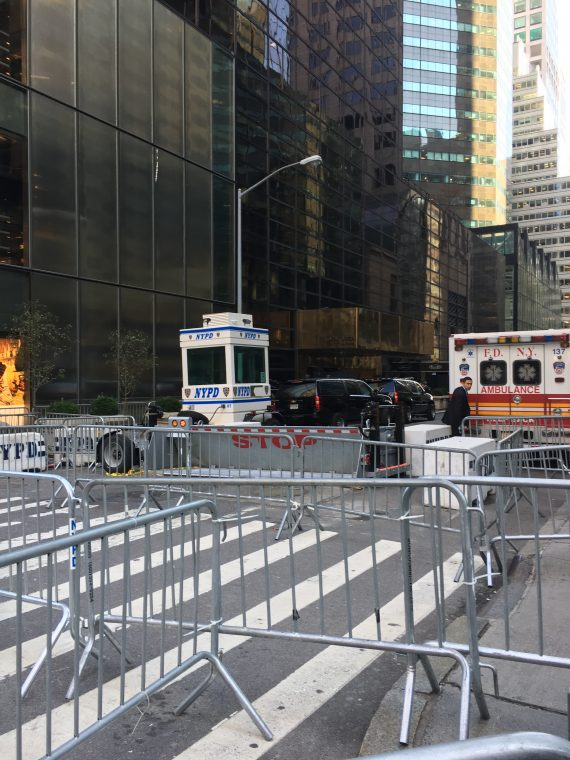 This is the side of Trump Tower. And ambulance there all the time. It's insane.