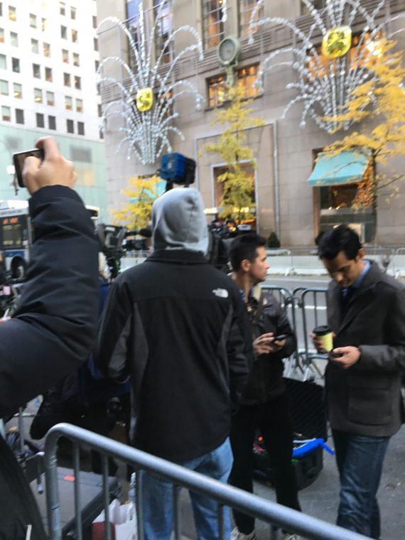 News crews always lining the block across from Trump Tower
