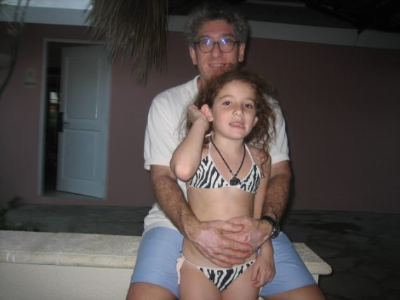 Lucy and Glenn in the Dominican Republic. Our last beach trip.