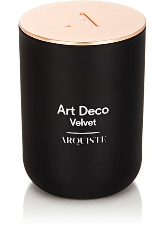 Light up the room with a velvet candle. Art Deco