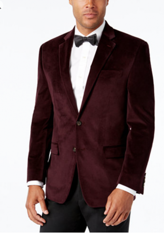 The men's version. OK not exactly. This one has a Ricky Riccardo vibe. It's a lot less expensive than the woman's. You can find it at Macy's. But it would look kind of swell on New Years.