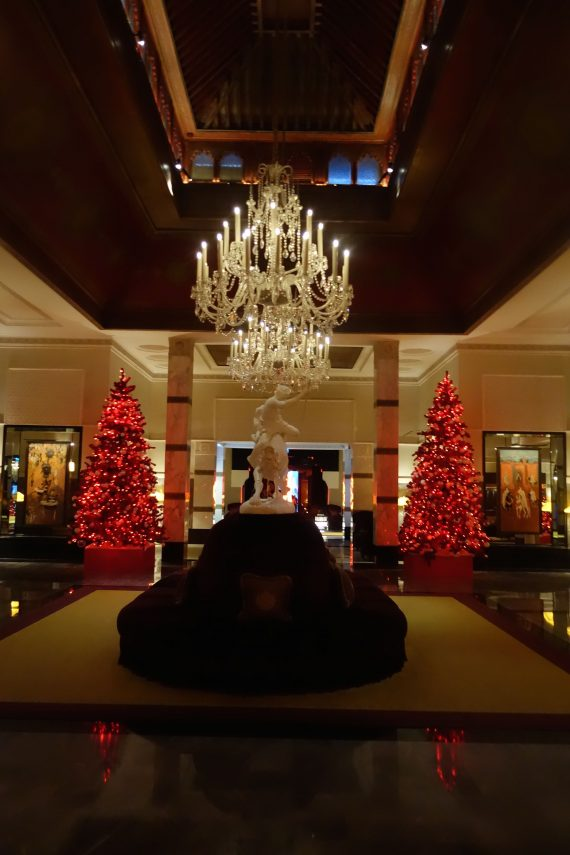 The lobby all dressed up for XMAS