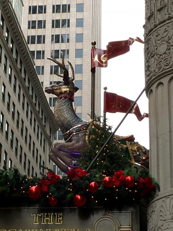 The Peninsula Hotel always does a great job of dressing up for the holidays.