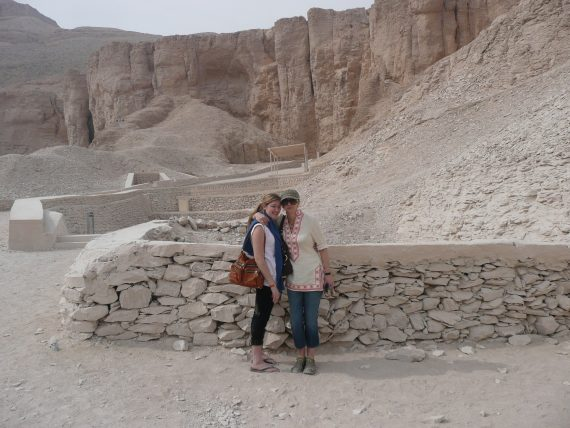 Taylor and me in The Valley of the Kings in Luxor.