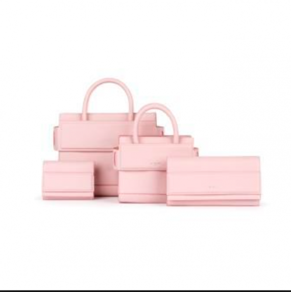 Givenchy did a whole series of bubble gum pink bags this season.