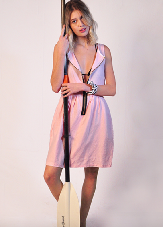 Ruby Cotton does a wonderful little go anywhere pink dress. Check it out.